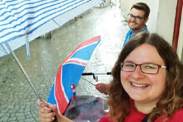 Vom Gewitter überrascht in Krumau