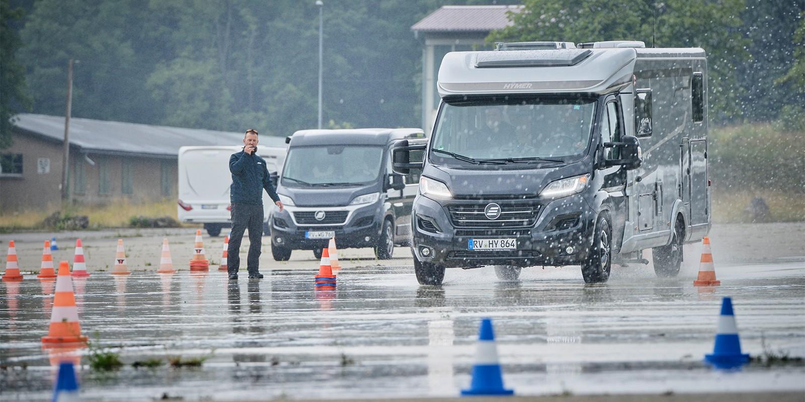 <span>Fahrsicherheitstraining für Wohnwagen und Wohnmobil</span>