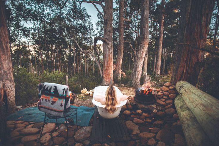 Left of Field Caravan Park in Tasmanien