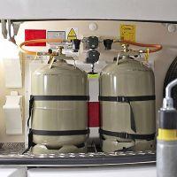 Die Umschaltanlage für die Gasanlage