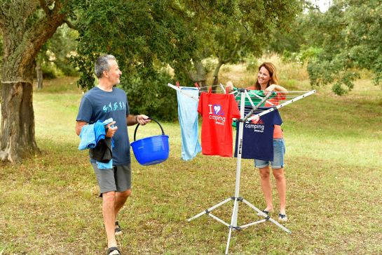 Wäsche waschen und trocknen im Campingurlaub