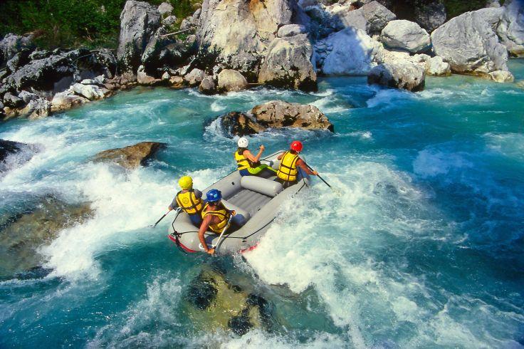 Rafting auf dem Fluss
