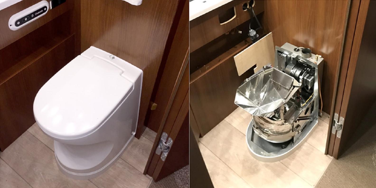 <span>Verbrennungstoilette in Wohnmobil und Wohnwagen</span>