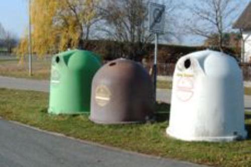 Glascontainer für Grün-, Braun und Weißglas