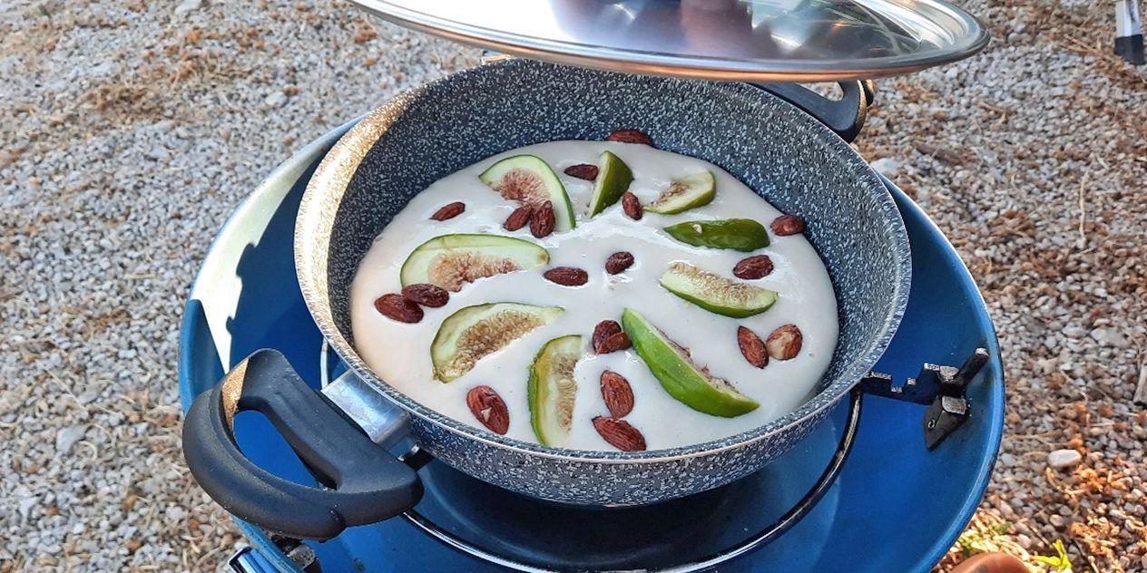 <span>Rezept: Feigenpfannkuchen mit gebrannten Mandeln</span>