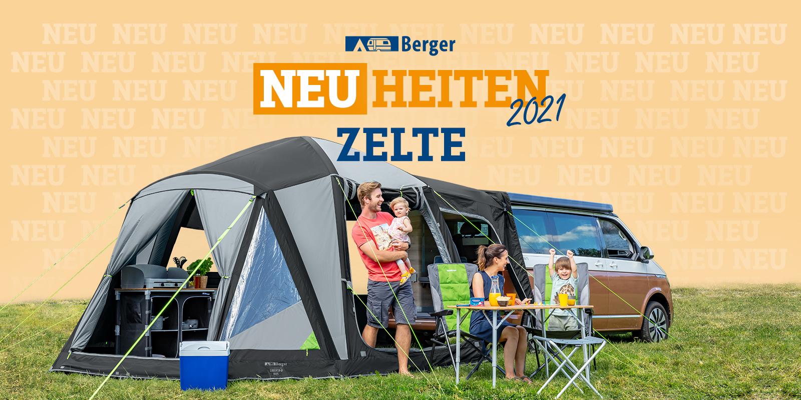 <span>Berger Neuheiten 2021: (Vor)-Zelte</span>
