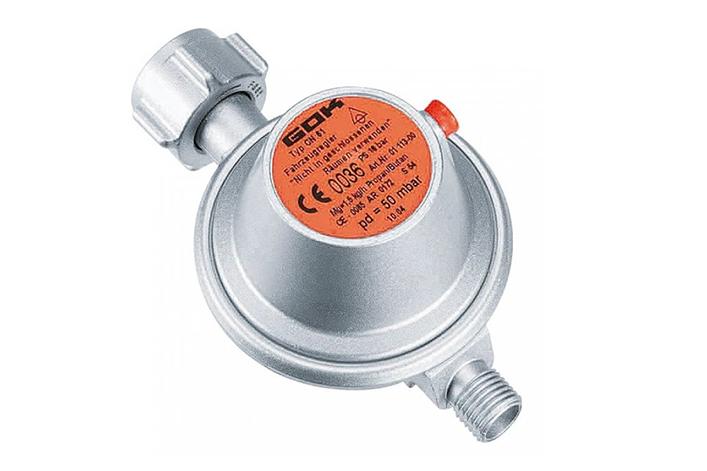 Gasregler fürs Fahrzeug mit eingebautem Sicherheitsventil