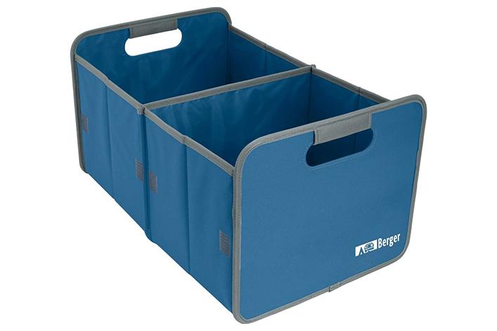 Verwende am besten Staubehälter, um alle Gegenstände im Reisemobil für die Fahrt zu sichern.