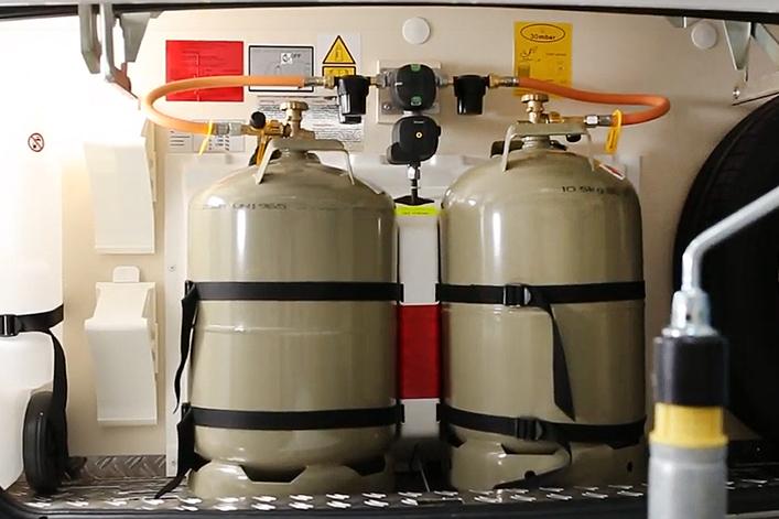 Truma DuoControl mit Crashsensor - vertikal Gasdruckregler