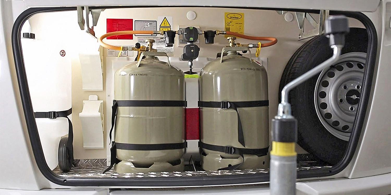 <span>Die Umschaltanlage für die Gasanlage</span>
