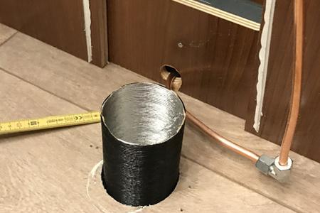 Ein guter Luftstrom in die Verbrennungstoilette ist entscheidend