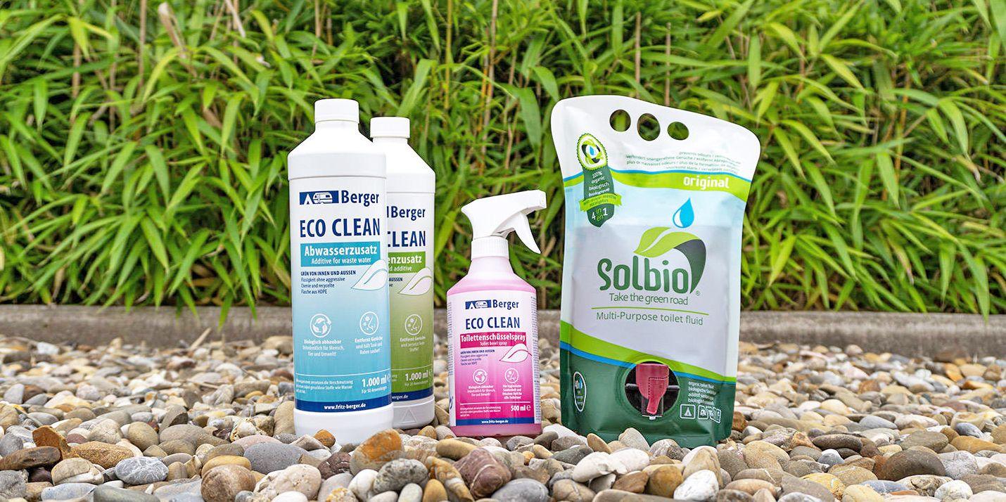 <span>Umweltfreundliche Reinigungsmittel und Sanitärzusätze</span>