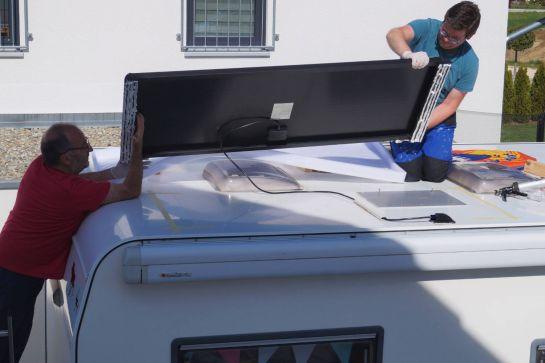 Einbau des Berger Deluxe Solaranlage Komplettsets