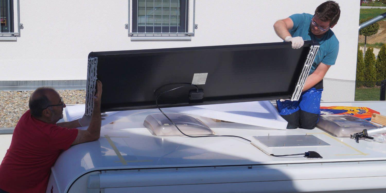 <span>Einbau des Berger Deluxe Solaranlage Komplettsets</span>