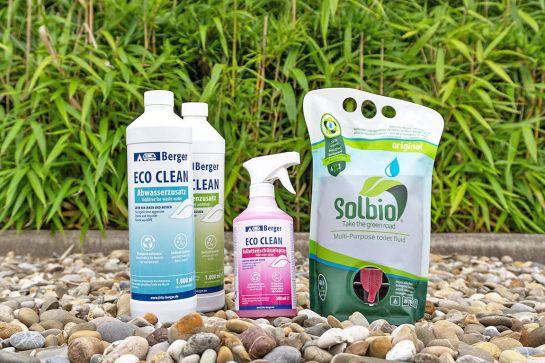 Umweltfreundliche Reinigungsmittel und Sanitärzusätze