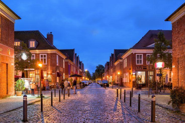 Das holländische Viertel am Abend