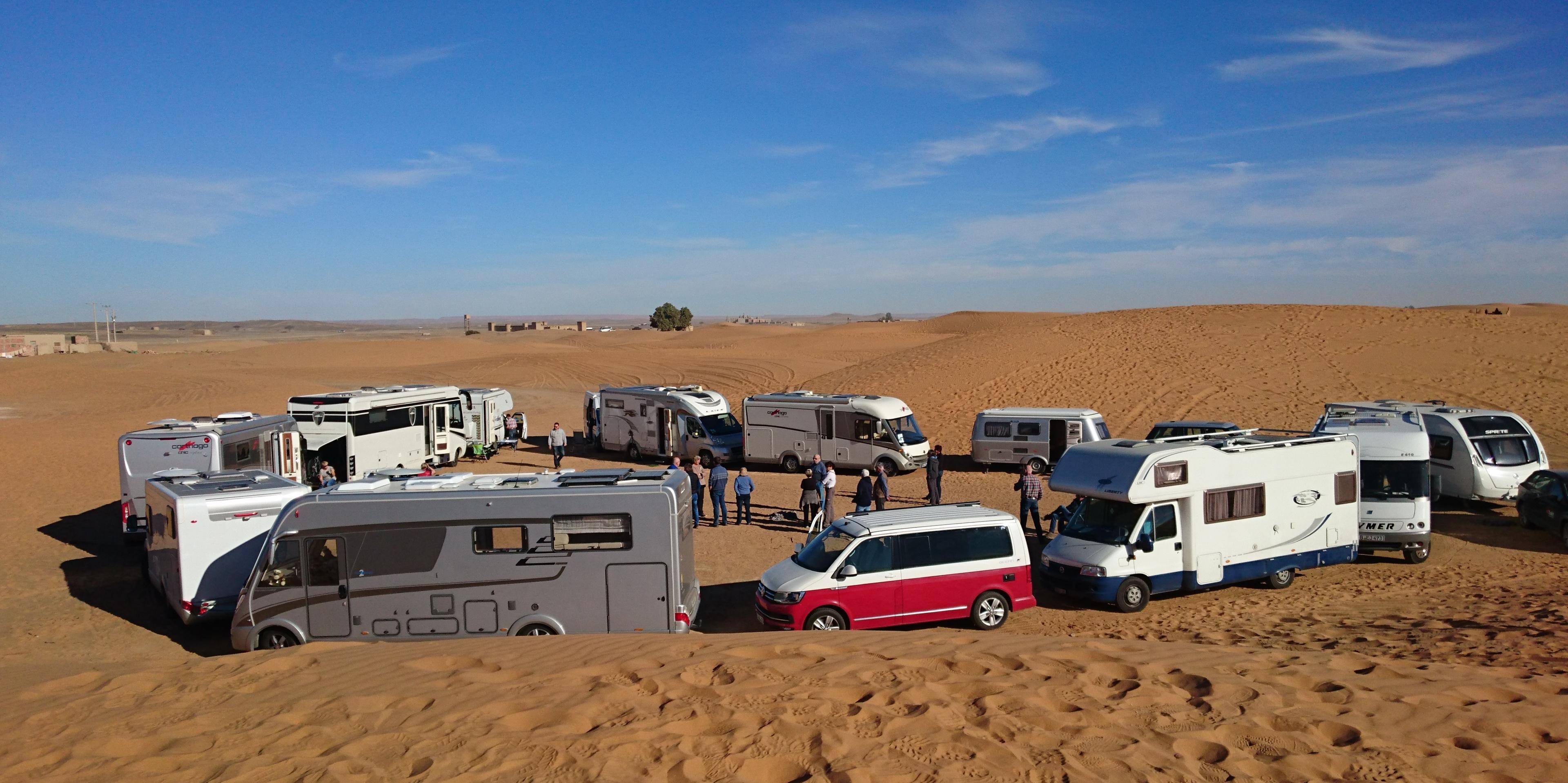 <span>Geführte Gruppenreisen mit dem Camper</span>